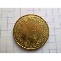 Ливия 1/4 динара 2014