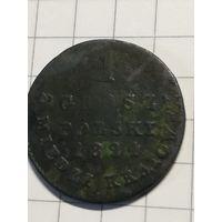 1 грош polski 1824 IB медь.