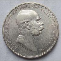 Австрия, 5 корон, 1909, Серебро