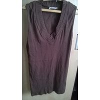 Туника-платье коричневая p-p 44-48, рост 160 - 165