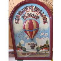 GEO BLUNTS BAllOON FLIGHT Vintage, 3-D деревянная картина