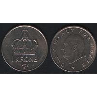 Норвегия km419 1 крона 1975 год (AB) (h03)
