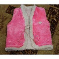 Меховая жилетка на девочку 3-5 лет