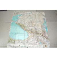 Редчайшая для  наших  мест -1953 ГОДА!!! -полётная военная  карта Кавказа  и прилегающих территорий.