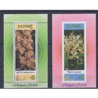 [1498] Филиппины 1993. Флора.Цветы.Орхидеи. 2 БЛОКА.