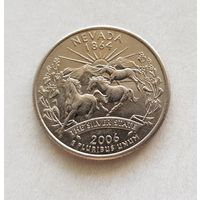 25 центов США 2006 г. штат  Невада P