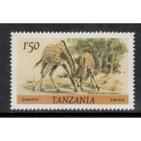 Танзания /1985/ Животные / Сафари / Жираф / СЕРИЯ 1 Марка ЧИСТАЯ