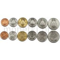 Никарагуа 6 монет 1997-2007 годов.