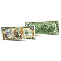 2 доллара Национальный парк GRAND CANYON цветные  UNC