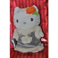 Кити Kitty в шубке Япония мягкая игрушка 20 см