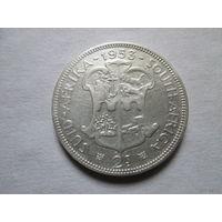 2 шиллинга, Южная Африка (ЮАР) 1953 г., серебро