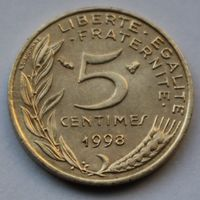 Франция, 5 сантимов 1998 г