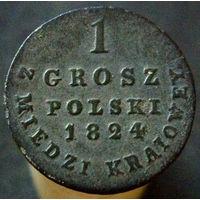 1 грош 1824 IB