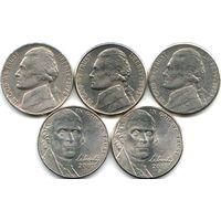 США 5 центов 1978, 1992 P, 1993 P, 2007 P, 2015 P - на выбор