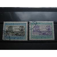 Транспорт, корабли, флот, парусники Либерия 2 марки 1922