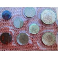 Набор монет Швейцарии.