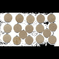 20 копеек 1961-1991 г. 17шт.