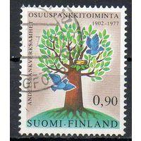 Дерево Финляндия 1977 год серия из 1 марки