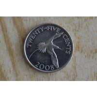 Бермуды 25 центов 2008