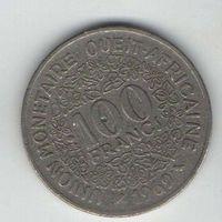 ГОСУДАРСТВА ЗАПАДНОЙ АФРИКИ 100 ФРАНКОВ 1969