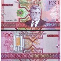 Туркменистан  100 манат   2005 год   UNC