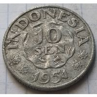 Индонезия 10 сенов, 1951      ( 3-2-4 )