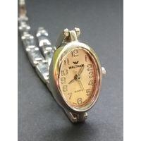 Винтажные женские классические наручные часы Waltham Quartz (USA) металлический браслет