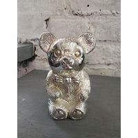 Винтаж серебрение подарок ребенку Бамбино Посеребренная Копилка Мишка