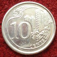 9089:  10 центов 2015 Сингапур