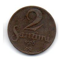 ЛАТВИЙСКАЯ РЕСПУБЛИКА . 2 САНТИМА 1926