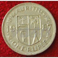7365:  1 рупия 1987 Маврикий