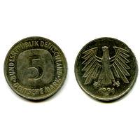 Германия 5 марок 1991 D состояние