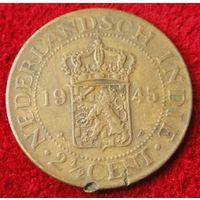 6800:  2 1/2 цента 1945 Голландская Ост-Индия