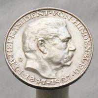 Германия медаль 80 лет ГИНДЕНБУРГУ тип 5-ти марочной монеты D М.Д. Мюнхен