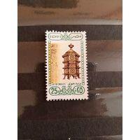 Египет культура разновидность двойная печать зелёного цвета чистая без клея без дыр (5-2)