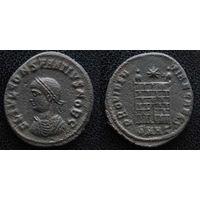 YS: Древний Рим, Константин I, медный фоллис 306-337 н.э., монетный двор Гераклеи (SMHA)