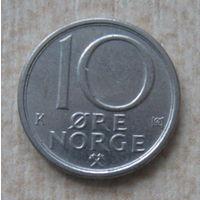 Норвегия 10 эре 1986 год