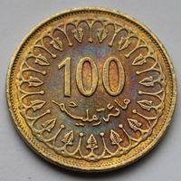 Тунис, 100 миллимов 2013 г