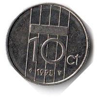Нидерланды. 10 центов. 1995 г. Единственное предложение данного года на АУ