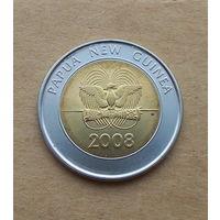 Папуа Новая Гвинея, 2 кины 2008 г., юбилейная