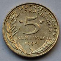 Франция, 5 сантимов 1995 г