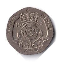 Великобритания. 20 пенсов. 1982 г.