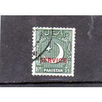 Пакистан. Ми-D19. Надпечатка.Служебное. Звезда и полумесяц.1948.