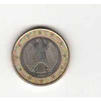 1 евро Германия 2004 D Лот 7019