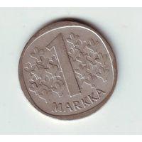 Финляндия. 1 марка 1966 г. ( серебро )