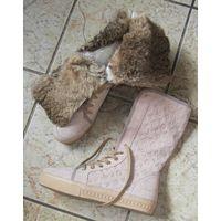 Ботинки с натуральным мехом Louis Vuitton Италия