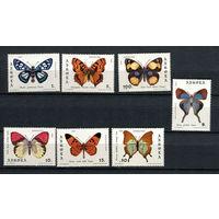 Ангола - 1982 - Бабочки - [Mi. 663-669] - полная серия - 7 марок. MNH.