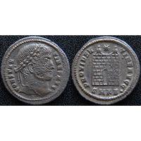 YS: Древний Рим, Константин I, медный фоллис 306-337 н.э., монетный двор Кизика (SMKB)