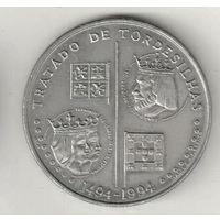 Португалия 200 эскудо 1994 500 лет с момента заключения Тордесильясского договора