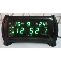 Настольные Сетевые LED часы VST-761WX, Будильник